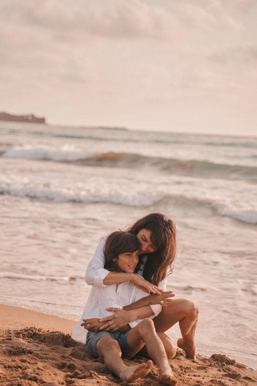ויקטוריה מנשירוב - עם הבן שלי